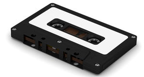 Schwarze Audiokassette Stockfotografie