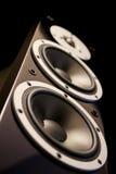 Schwarze Audiosprecher stockfotografie