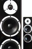 Schwarze Audiosprecher lizenzfreie stockbilder
