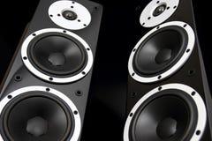 Schwarze Audiosprecher stockbilder