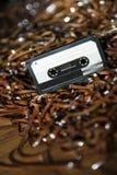 Leere aufnahmefähige Audiokassette auf Magnetband - selektives Foc Lizenzfreies Stockfoto