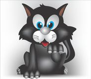 Schwarze Aufschneiderkatze Lizenzfreies Stockbild
