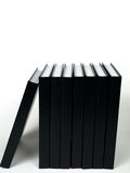 Schwarze Bücher nahe bei einander Lizenzfreie Stockfotos
