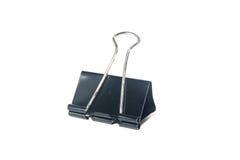 Schwarze Büroklammer Stockfotografie