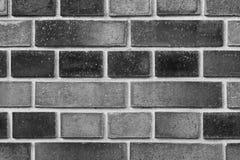 Schwarze Backsteinmauerbeschaffenheit für Hintergrund Lizenzfreies Stockfoto