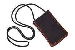 Schwarze Baumwollgeldtasche mit Brücke lizenzfreies stockfoto