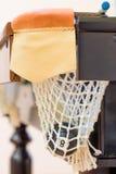 Schwarze Billardkugel Nr. 8 in der Tasche Lizenzfreies Stockbild