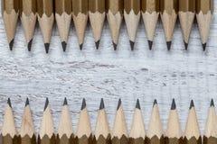 Schwarze Bleistifte Stockfotos