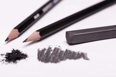Schwarze Bleistifte und graphit Stockbilder
