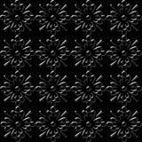 Schwarze Blumentapete vektor abbildung