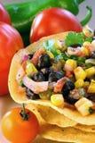 Schwarze Bohnen-und Mais-Salsa Lizenzfreies Stockfoto
