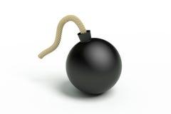 Schwarze Bombe Lizenzfreies Stockfoto