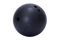 Schwarze Bowlingkugel Lizenzfreies Stockfoto