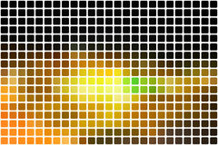 Schwarze braune Gelbgrünzusammenfassung rundete Mosaikhintergrund vorbei Lizenzfreie Stockfotografie
