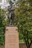Schwarze Bronzestatue von Matthew Flinders, Adelaide Australia, Stockbilder