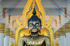 Schwarze Buddha-Statue lizenzfreie stockfotografie