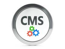 Schwarze CMS-Ikone mit Höhepunkt Stockfotos
