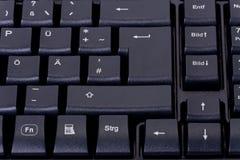 Schwarze Computertastatur stockfotografie
