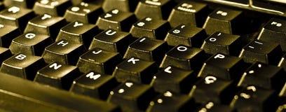 Schwarze Computertastatur Lizenzfreies Stockfoto