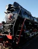 Schwarze Dampflokomotive Stockbilder