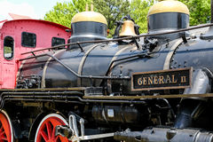 Schwarze Dampflokomotive Lizenzfreies Stockfoto