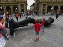 Schwarze David-Replik in Florenz stockfotografie
