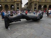 Schwarze David-Replik in Florenz lizenzfreie stockfotografie