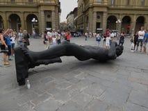 Schwarze David-Replik in Florenz stockfotos