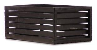 Schwarze dekorative Holzkiste Lizenzfreie Stockbilder