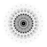 Schwarze dekorative Mandala mit zentralem Auge Lizenzfreies Stockbild