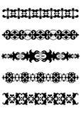 Schwarze dekorative Teiler-Ränder Lizenzfreie Stockfotografie