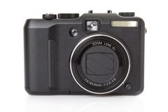 Schwarze digitale kompakte Kamera Lizenzfreies Stockbild