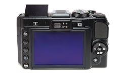 Schwarze Digitalkamera Lizenzfreies Stockbild