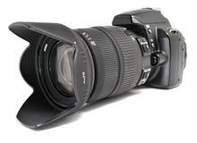 Schwarze Digitalkamera. Stockfotografie