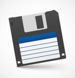 Schwarze Diskette auf weißem Hintergrund Stockbild