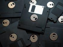 Schwarze Disketten lizenzfreie stockfotografie