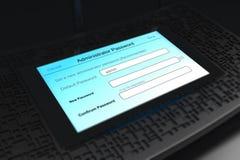 Schwarze drahtlose Routeranzeige Wi-Fi Stockfotos