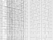 Schwarze Drahtrahmenlinien auf weißem Hintergrund 3 d Stockbilder