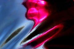 Schwarze Drapierungsbeschaffenheit mit rosa Glanz vom rauen ledernen Gewebe lizenzfreie abbildung