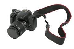 Schwarze DSLR Fotokamera Lizenzfreie Stockbilder