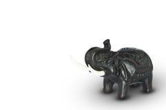 Schwarze Elefantstellung Lizenzfreie Stockfotos