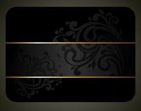 Schwarze elegante Karte Stockfoto