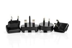 Schwarze elektrische Adapter Stockfotografie