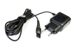 Schwarze elektrische Leitung Stockfoto