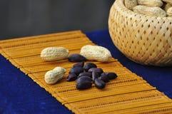 Schwarze Erdnüsse Stockbild