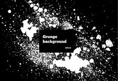 Schwarze Farbe, Tintenbürstenanschläge, Bürsten schwärzen Tröpfchen, Flecken mit Tinte Schmutzige künstlerische Gestaltungselemen lizenzfreie abbildung