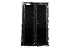Schwarze Fensterkunstart Lizenzfreies Stockfoto
