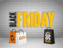Schwarze Freitag-Fahne Stockfotografie