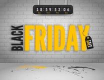 Schwarze Freitag-Fahne Stockfotos