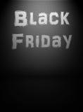 Schwarze Freitag-Mitteilung Stockbilder